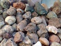 美丽的五颜六色的石头 库存照片