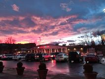 美丽的五颜六色的科罗拉多天空 免版税库存照片