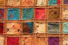 美丽的五颜六色的织品 库存图片