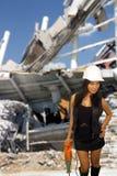 美丽的亚裔女性建筑工人(3a) 库存图片