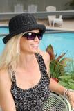 美丽的享用的夏天妇女 免版税库存图片
