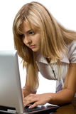 美丽的企业女孩 免版税库存图片