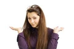 美丽的企业女孩 免版税库存照片