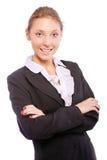 美丽的企业纵向妇女年轻人 免版税库存图片