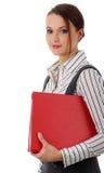 美丽的企业纵向妇女 免版税库存图片