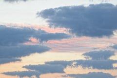 美丽的伊利诺伊天空 免版税图库摄影