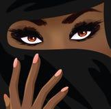 美丽的伊斯兰教的妇女 免版税库存照片