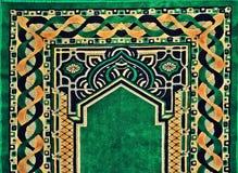美丽的伊斯兰教的祈祷的地毯 免版税库存照片