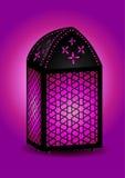 美丽的伊斯兰灯笼 库存例证