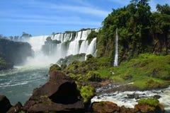 美丽的伊瓜苏瀑布在阿根廷南美洲 库存图片