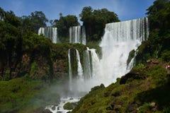 美丽的伊瓜苏瀑布在阿根廷南美洲 免版税库存照片