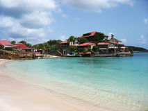 美丽的伊甸园岩石旅馆在圣Barts,法属西印度群岛 库存图片