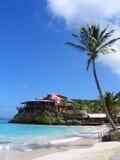 美丽的伊甸园岩石旅馆在圣Barts,法属西印度群岛 图库摄影