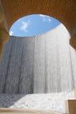 美丽的休斯敦墙壁水 免版税库存照片