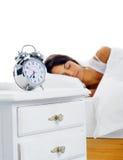 美丽的休眠的妇女 免版税图库摄影