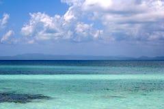 美丽的伯利兹海岸线  免版税库存图片