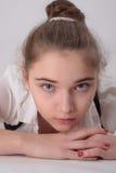 美丽的体贴的女孩 图库摄影
