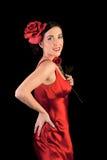 美丽的佛拉明柯舞曲女孩起来了 免版税库存图片