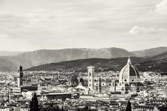 美丽的佛罗伦萨,托斯卡纳,意大利,黑白 库存照片