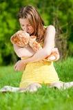 美丽的作用玩具妇女年轻人 图库摄影