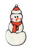 美丽的使用冬天的圣诞节帽子节假日例证横向明信片准备好的雪人 图库摄影
