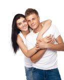 美丽的便衣夫妇年轻人 免版税库存照片