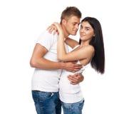 美丽的便衣夫妇年轻人 图库摄影