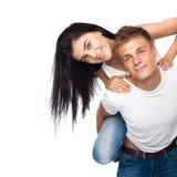 美丽的便衣夫妇年轻人 免版税图库摄影