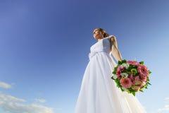 美丽的俄国年轻新娘画象  库存图片