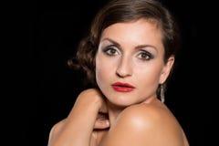 美丽的俏丽的妇女 免版税库存图片