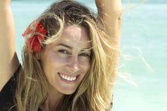 美丽的俏丽的系列微笑妇女 免版税图库摄影