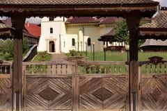 美丽的修道院在罗马尼亚 免版税库存照片