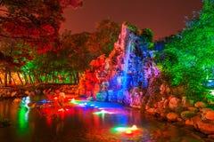 美丽的假山庭园 库存图片