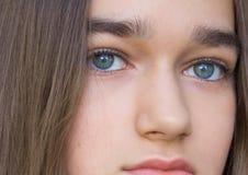 美丽的健康青少年的女孩画象  库存照片