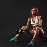 美丽的健身女性 免版税图库摄影