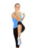 年轻美丽的健身妇女 免版税图库摄影