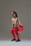 美丽的健身妇女 免版税图库摄影