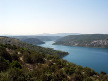 美丽的克罗地亚krka河 免版税库存照片