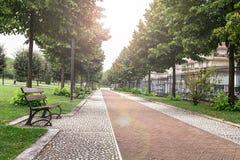 美丽的公园在弗罗西诺内 免版税库存图片