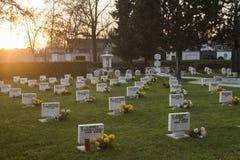 美丽的公墓,恰好照料  图库摄影