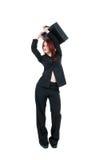美丽的公文包女商人年轻人 免版税库存图片