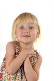 美丽的兴奋女孩 免版税图库摄影