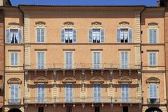 美丽的典型的意大利房子,锡耶纳,意大利 库存图片