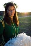 美丽的军乐队女队长纵向 免版税库存照片