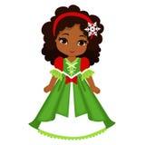 美丽的冬天圣诞节公主的例证 库存照片