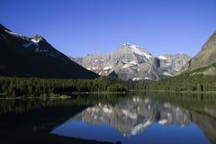 美丽的冰川国家公园 库存图片