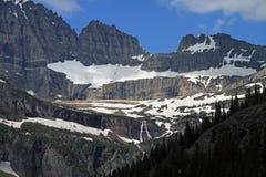 美丽的冰川国家公园 库存照片