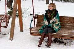 美丽的冻结的妇女 免版税库存图片