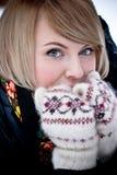 美丽的冻结的妇女 免版税图库摄影