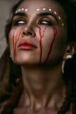 美丽的出血巫婆, 图库摄影